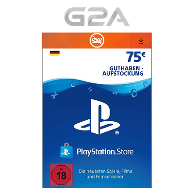 75€ Eur PlayStation Network Card - Sony PSN PS3 PS4 75 Euro Key Guthaben DE
