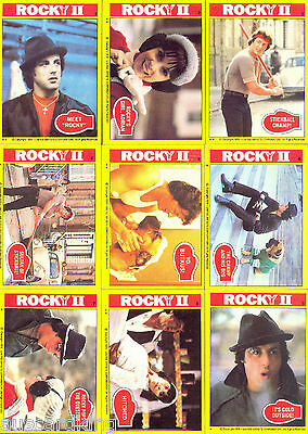 ROCKY II (2) - Complete Trading Card Set (99+22) - 1979 TOPPS - NM