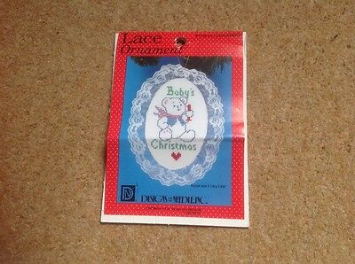 No 1236 BABY'S FIRST CHRISTMAS Make your own Christmas lace ornament