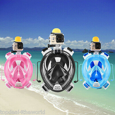 Full Face Mask Snorkeling Scuba Water Snorkel Breath Swimming Diving for Gopro