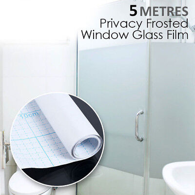90CM x 5M Sand Blast Clear Privacy Frosted Frosting Removable Window Glass Film