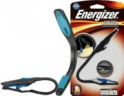 Energizer LED Booklite Clip On Book Light Torch Lamp for Travel Reading | Black