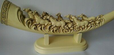 Replica Tusk Featuring Carved Horses 57cm