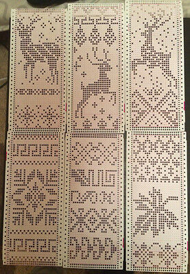 14 Punch Cards Brother Singer / Silver-Reed Knitting Machine