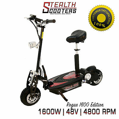 Rogue 48v 1600W Brushless Electric Scooter Higher Torque than 1000w