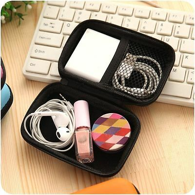 Travel Carry Pouch Portable Case Cable Accessories Headphone Bag Storage Box
