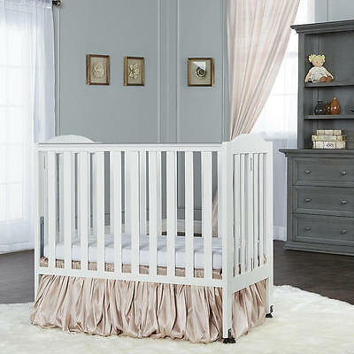 Dream On Me 2-in-1 Portable Folding Crib - White