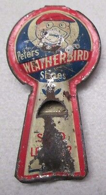 Vintage Peters Weatherbird Shoes Clicker Noise Maker Whistle Tin Advertising
