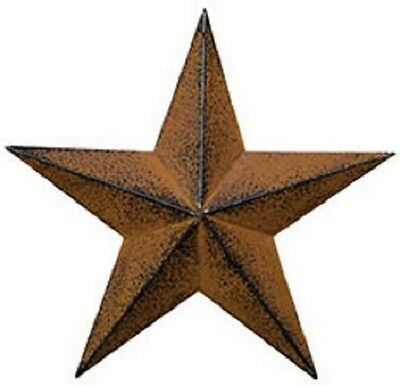 "Set of 3 - 5.5""  "" Rust "" Barn Stars, Primitive, Country, Metal Star"