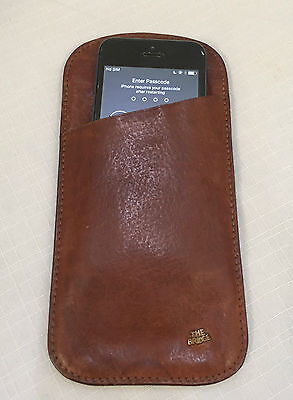 Authentic Vintage Leather THE BRIDGE Glasses Spectacles Pouch Sleeve IPhone Case