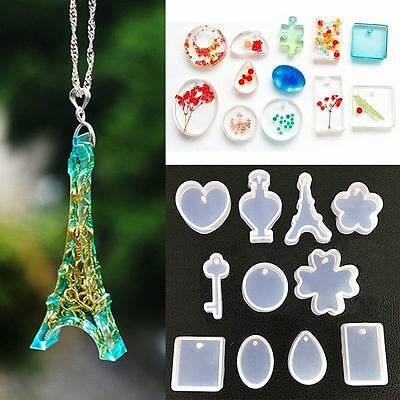11Pcs/set  DIY Making Tools Resin Craft Silicone Pendant Molds Jewelry