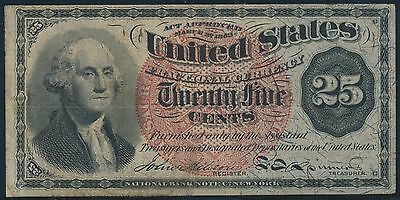 Fr1303 4Th Issue 25¢ Fractional Currency Vf+ Br5608