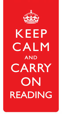 Slogans Keep Calm and Carry On Reading Magnetic Bookmark - Gift Idea