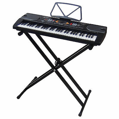 Clavier DynaSun MK2085 USB LCD 61 Touches E-Piano Keyboard Enseignement + Stand