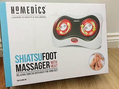HoMedics Shiatsu Foot Massager with Heat Deep Kneading Massage FM-S149H-GB - NEW