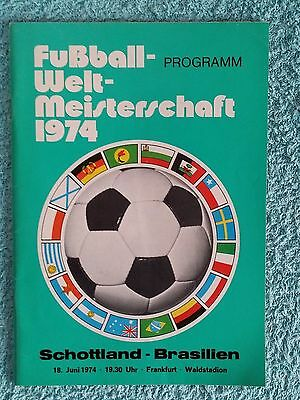 1974 - SCOTLAND v BRAZIL PROGRAMME - WORLD CUP 74