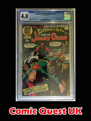 Jimmy Olsen #134 ⭐️ CGC 4.0 ⭐️ 1st First Darkseid ⭐️ Justice League Movie