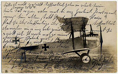 "SANKE PPC: ""Zweisitzer D.F.W."", Sanke postcard no. 1042, real used as f -8618"