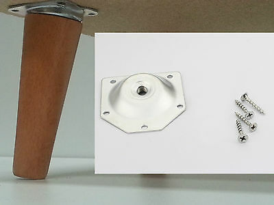 Angled Leg Fixing Mounting Plate Bracket Coffee Table Dansette Vintage Retro X 4