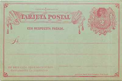 Entier Postal Stationary Chili Chile  2c with reply card