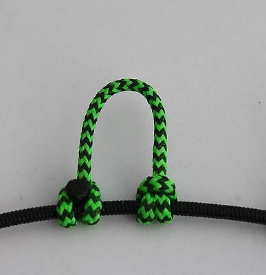 1,2,5,10 Fl Green & Black Speckled D Loop BCY 24 Rope Archery Release Bowstring