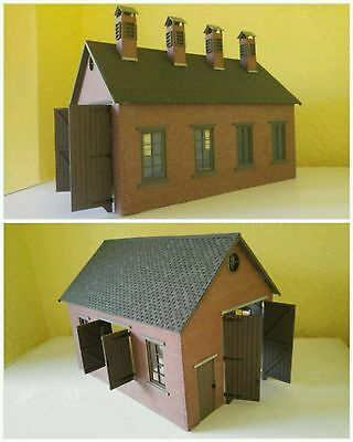 16mm SM32 SCALE ENGINE SHED AND MATCHING GOODS SHED BRAND NEW & UNBUILT IN BAGS