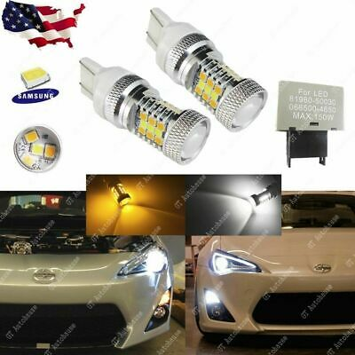 7443 Switchback Scion FRS 31-SMD LED Bulbs Front Turn Signal Lights with Flasher