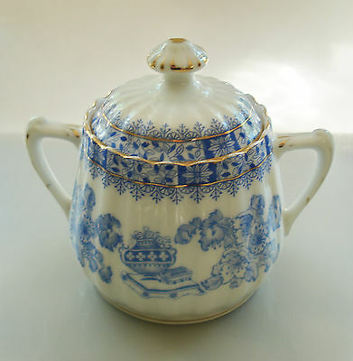 China Blau Tiefenfurt ECHT TUPPACK Zuckerdose - sugar bowl