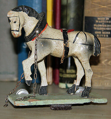 Antique German Horse Pull Toy