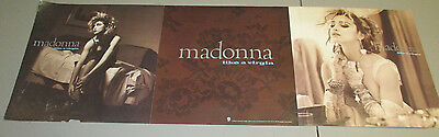 MADONNA Like A Virgin Fold Out in-store PROMO poster 1984 RARE Image Sire Record