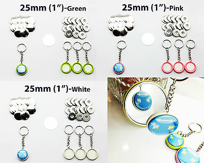 """25mm(1"""") 100sets Double-sides Keychain Button Badge Part for Button Maker"""