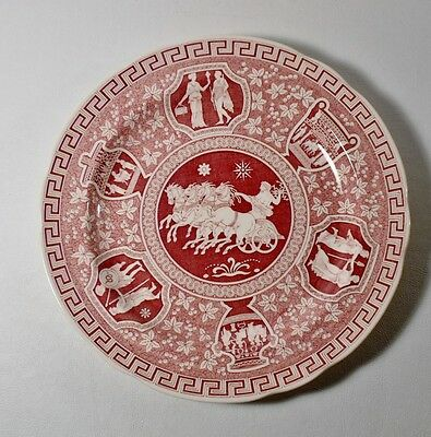 """Spode Archive Collection Cranberry GREEK 10-1/2"""" Dinner Plate"""