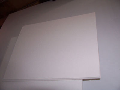 6  12 X 16 ACID FREE BACKER BOARD BACKING MATT 4 PLY 1/16th ARCHIVAL STORAGE ART