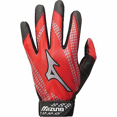 Mizuno Franchise Baseball Batting Glove, Red