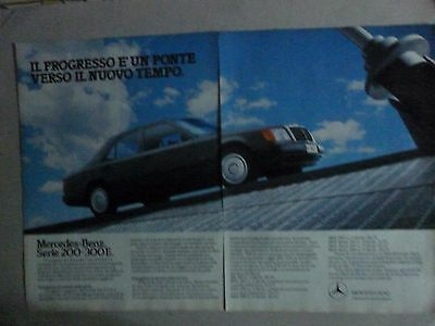 ADVERTISING PUBBLICITA' MERCEDES-BENZ Serie 200-300 E il progresso -- 1986