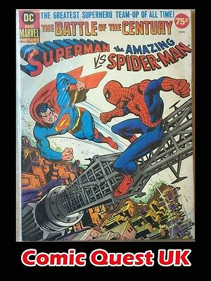 Superman Versus The Amazing Spider Man ⭐️ Treasury Edition ⭐️ VG ⭐️ Marvel DC