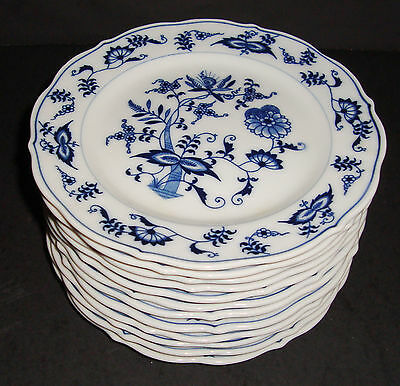 """Blue Danube 6 3/4"""" Bread and Butter Plate Set of 12 Banner Mark"""
