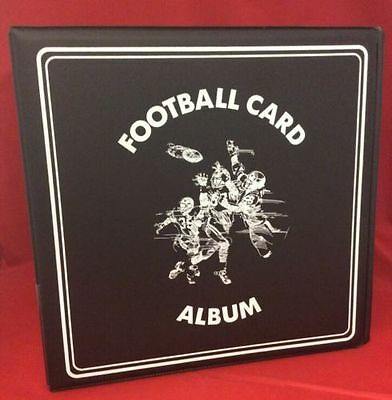 "BCW 3"" Album - Football - Black Lot of 6 NEW!"