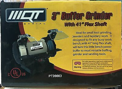 """New 3"""" Buffer Grinder UL Approved with 41"""" Flexible Shaft"""