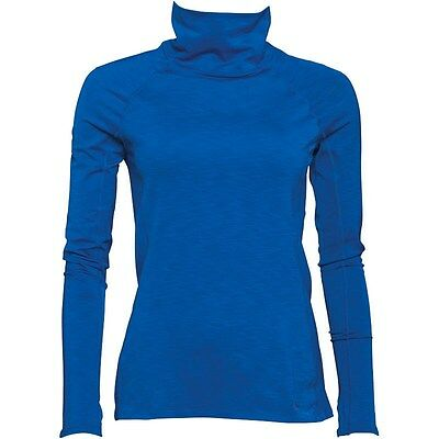 BNWT Under Armour blue Coldgear mock neck long sleeve top S NEW fitted Cozy neck