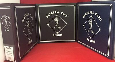 "BCW 3"" Album Binder Baseball - Black Blue Burgandy Lot of 6 NEW!"