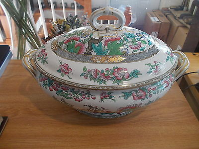 Antique MINTON INDIAN TREE Tureen-Ca. 1870 - Professionally Repaired