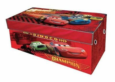 DISNEY CARS COLLAPSIBLE STORAGE TRUNK KIDS TOY BOX Lightning McQueen *NEW*