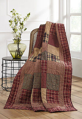 *** RUTHERFORD Quilted Throw ~ Country, Primitive***NEW
