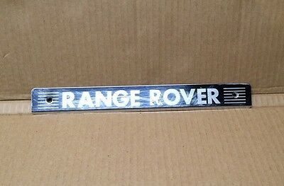 Land Rover Range Rover P38 OEM Rear Door Sill Scuff Plate Chrome Steel MXC4309