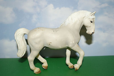 Grey & White Anabian Stallion from Schleich Horse Figure 2004