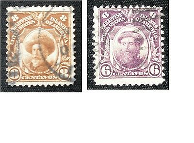 (E23) Philippines stamps American Occupation used hinged NG