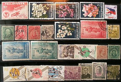 (E61) Philippine stamps used 2 scans