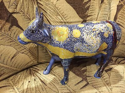 Cow Parade *Retired* Van Gogh's Starry Starry Cow