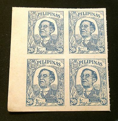 (G027) Philippines Japan 1945 20s chalky blue Scott N39 MNH NG